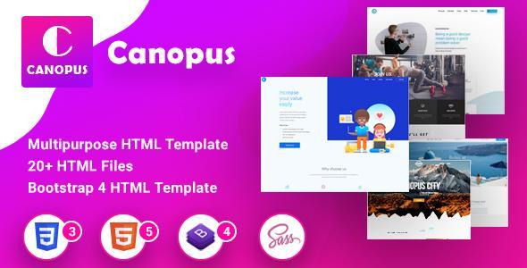 Canopus - Multipurpose HTML Template - Html Templates