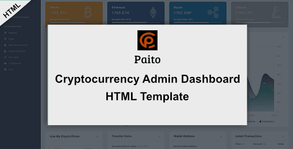 Paito - Crypto-Currency Dashboard HTML Template