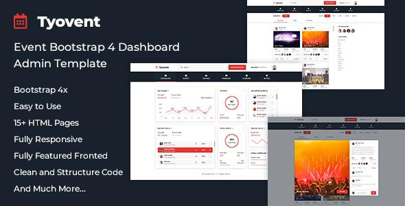 Tyovent - Event Management Dashboard HTML Template - Admin Templates