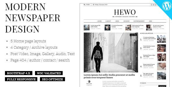 HelloWorld - Modern Magazine WordPress Theme - Blog Magazine