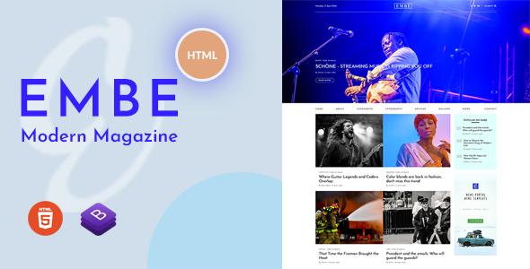 EmBe - Modern Magazine HTML template