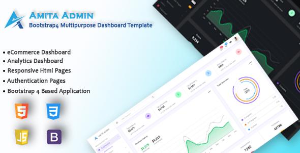 Amita - Bootstrap 4 Multipurpose Admin Dashboard Template