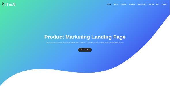 ITEN - Product Marketing Landing Page