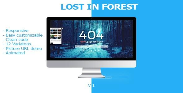 Lost In Forest - Responsive 404 / 500 Error Page - 4 4 Page