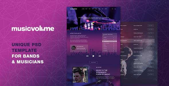 Musicvolume | PSD Theme for Bands, Musicians, Artists and the Music Industry - Nightlife