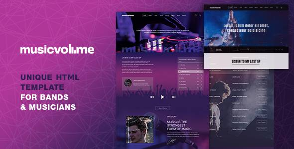 Musicvolume - Modern HTML Template for Bands, Musicians, Artists and the Music Industry