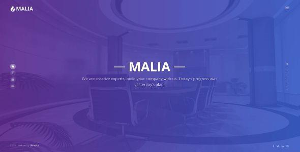 Malia - Portfolio Multipurpose Modern Bootstrap Template