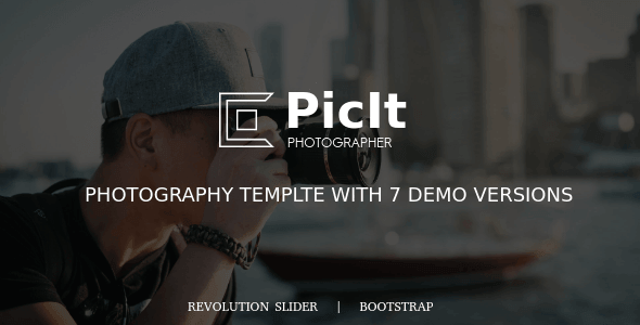 PicIt - Fullscreen Photography HTML Template - Photography