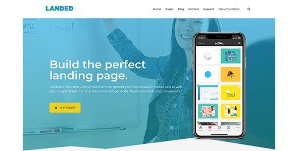 Landed - WordPress App Landing page