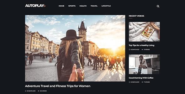 Autoplay - Magazine Video Blog Wordpress Theme