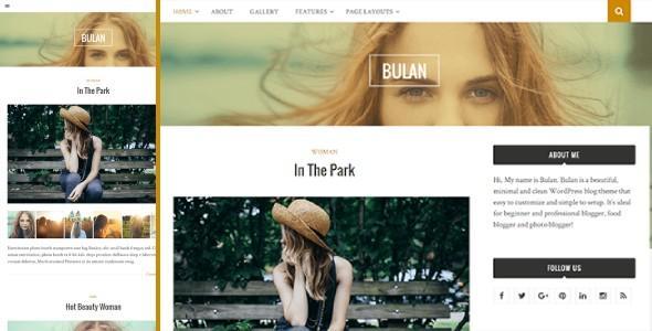 Bulan - WordPress Modern Theme for Bloggers