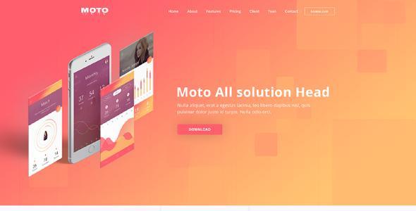 Moto – Multipurpose App Landing Page Template