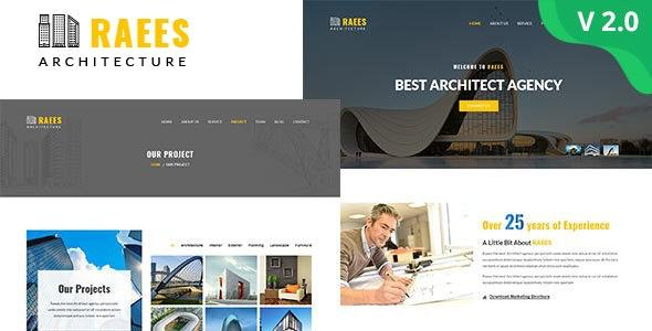 Raees – Responsive Architecture/Architect Template