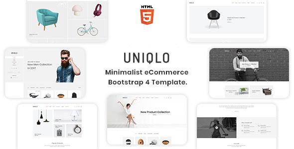 Uniqlo - Minimalist eCommerce Template