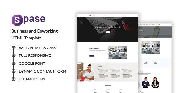 Spase - Business and Coworking HTML Template