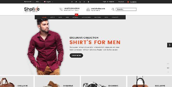 Shofixe - Fashion HTML Template - Fashion