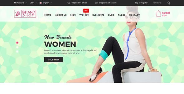 Brandshop - eCommerce Fashion HTML Template