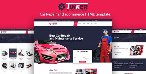Tinker – Car Repair and eCommerce Template - Business