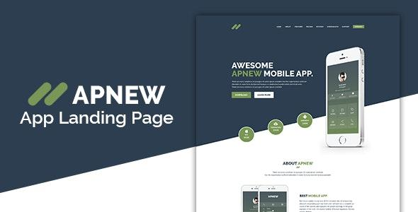 Apnew - App Landing Page HTML5 Template - Apps